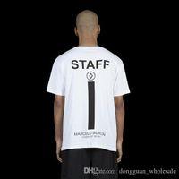 Wholesale Staff Animal - High Quality Mens Clothing Marcelo Burlon STAFF T-shirts Men Women Fashion Summer Skateboard Hip Hop Mens Cotton T Shirt Hom