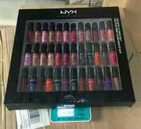 nyx lip lingerie оптовых-Dropshipping NYX мягкий матовый крем для губ nyx 36 шт. Набор помады блеск для губ Матовый не выцветает белье vault 30 шт. блеск для губ