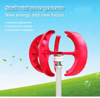 Wholesale Generator Small Wind Turbines - 100w 3 phase ac 12v 24v wind turbine small home Vertical generator free shipping start up with low wind speed