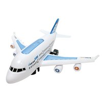 Wholesale Electric Vehicle Bus - Electric Air Bus Model Flashing LED Light Kids Musical Airplane Toy Planes for Children Diecasts & Toy Vehicles High Quality