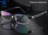Wholesale Titanium Eyewear Wholesales - Wholesale- Men Titanium Eyeglasses Frame High Quality Optical Frame Man Half Rim Optical Glasses Accept Prescription Eyewear