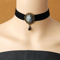 Wholesale white false collar - Gothic jewelry vintage lace necklaces & pendants women accessories choker necklace false collar statement necklaces