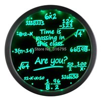 Wholesale Class Decor - Wholesale- nc0463 Math Class Time is Passing are you? Gift Decor Neon LED Wall Clock