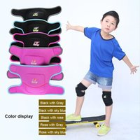 Wholesale Elbow Knee Pads Baby - New Kids Ski Sports Kneepads Baby Crawling Safety Children Dance Knee Support Football Basketball Volleyball Knee Pads Black Blue Pink Color