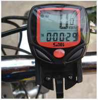 Wholesale cycling speedometer resale online - Mountain Bike Speedometer Functions Water proof Cycling Odometer With LED Screen Shock Proof Equipment Factory Direct Sale qh I