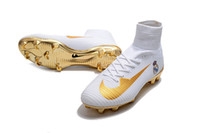 Wholesale Pu Lace Jacket - 2017CR7 football shoes Mercurial CR7 Superfly V FG boys soccer shoes young youth soccer jacket new Cristiano Ronaldo shoes