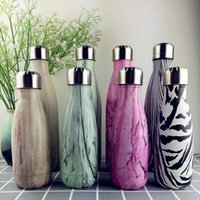 Wholesale Color Kettle - Cola Shaped Water Bottle 350ml Wood Color Stainless Steel Vacuum Stainless Steel Coke Water Bowling Bottles OOA1868