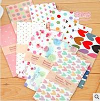 Wholesale Fresh Side - Wholesale-25 pcs set Korea stationery vintage small fresh candy color romantic envelope letter pad 1 set=5 pieces 719