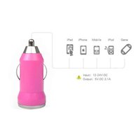 Bullet USB Car Charger Travel Charging Power Adapter Mini carro cigarro isqueiro soquete para iPhone Samsung Galaxy