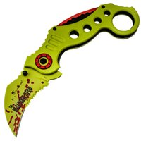 Wholesale zombie tactical - HX OUTDOORS FOX Zombie new karambit field survival knife knife body free outdoor folding EDC Self-defense training knives