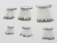 Wholesale Sewing Safety Pins - 200Pcs Lot Needles Safety Pins Silver Assorted Size Small Medium Large Sewing Craft 19mm, 22mm, 26mm, 32mm, 38mm, 45mm, 55mm