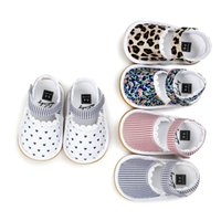 Wholesale Pink Infant Sandals - Baby Anti-skip fabric lace Sandals girls cute summer moccasins splicing color first walker Infants pre walker soft sole shoes 5colors 3sizes