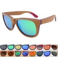 8805d456c66a18 Retro en gros skateboard lunettes de soleil en bois femmes hommes polarisés  conduisant lunettes de soleil miroir nuances uv400 gafas de sol