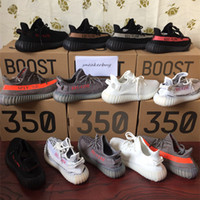 Wholesale SPLY boost V2 Beluga Cream white Copper Black Red Core red Bred Zebra Black white Olive Green kanye west Running shoes