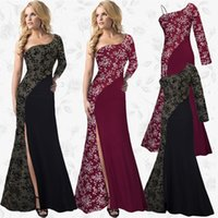 Wholesale Silk Maxi Evening Dress - Free DHL European women's fashion dress brand long skirt lace dress 2017 new Evening Dresses maxi dresses wedding dress