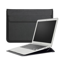 Wholesale leather laptop sleeve 13 - Macbook Sleeve With Stand Laptop case Shiny PU leather For Macbook 11Inch 13Inch 15Inch Pro Retina OPP BAG