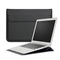 Étui Pour Sac En Cuir Pour Ordinateur Portable Pas Cher-13 pouces Macbook Laptop Sleeve Premium PU Housse de transport en cuir Housse pour Apple MacBook 11.6 12 13.3 15.4 pouces Air Pro Retina