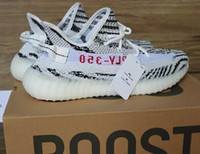 Wholesale New Zebra SPLY BOOST V2 Children Running Shoes Baby Kids Athletic Shoes Kanye West Season SPLY Boost V2 Black Kanye West With Box