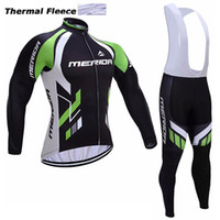 Wholesale Merida Cycling Jersey Winter Thermal - 2017 MERIDA winter thermal fleece cycling jerseys long sleeve bicycle mtb bike winter cycling clothing sport kits bicycle men wear AK-79