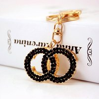 Wholesale Key Birthday Gold Chain - Wholesale Fashion Keychains For Women Brand Design GG Keyrings Luxury Double Rings Key Chain Birthday Gifts Jewelry