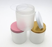 Wholesale Bulk Cosmetics - New Arrival!! Bulk Frost PET Plastic Cosmetic Jars 250g Silver Lids with seal