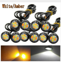Wholesale Daytime Eagle Eye Light - 2.3CM Dual Color Switchback 5730 4LED DRL Eagle Eye Daytime Light 12V Running Signal Light