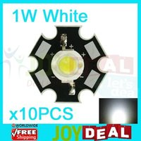 Wholesale 1w Led Heatsink - Wholesale- 10PCS 1W White High Power LED Bead Emitter DC3.2-3.8V 350mA 100-110LM 6500-7000K with 20mm Star Platine Heatsink