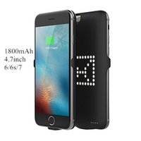 Wholesale Diy Iphone External Battery - Power Bank Case Cover DIY Custom LED Shape Cases for iPhone 4.7inch backup external battery charger Case 1800mAh