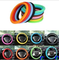Car Auto Silicone Steering Wheel Glove Cover Soft Auto Steering Covers Accessories Universal