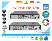 Lucker Security 4CH 8CH DVR AHD 960P 25 / 30fps AHDNH CCTV 4/8 canali NVR allarme multilingue Supporto Audio P2P