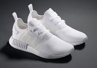 Wholesale Hot Athletic Shoes Woman - NMD Running Shoes Boost Perfect Primeknit White Shoes Sneakers Cheap Sneakers Brand NMD Athletic Shoes Hot Sale NMD Runner Primeknit Wears