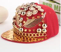 Wholesale Snapback Rivets - bad girl hat dancer rivet Punk Style Robin Hip Hop Adult Unisex Baseball Cap Summer Fashion Bradn Casquette Snapback Hats Caps