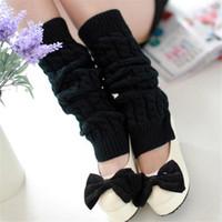 Wholesale Boot Gloves - Wholesale- Free shipping Women Lady Knee High Socks Knit Crochet Winter Warmer Leggings Gloves Boot Cover