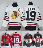 Wholesale Hawking Orange - Stitched NHL CHICAGO BLACK HAWKS 19 JONATHAN TOEWS 50 CRAWFORD 88 KANE White Red Black throwback Hockey Jerseys Ice Jersey Mix Order