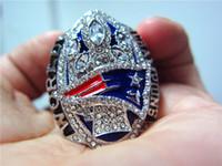 Wholesale Souvenirs England - Real Photo ! New Arrivals 2017 England 2016 Patriots Super Bowl Championship Ring souvenir Fan Men Gift wholesale TOM BRADY Drop Shipping