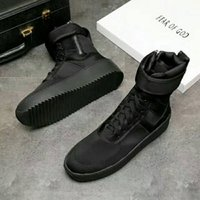 Wholesale Italy Boots Men - DHL Fear of God Fog Winter Boots With Original Box Made in Italy Men Women Winter Shoes fear of god High shoe FOG black white military boots