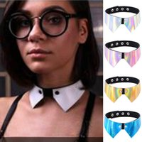 Stile punk sexy Feel Tie Chokers Cuoio Collana Neck Lock Collo Neck Necklace per il regalo delle donne