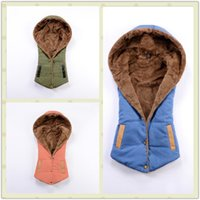 Wholesale Coral Vest - Europe and the United States new fashion fashion cotton vest Coral Fleece Winter sockpuppet European hooded women's vest