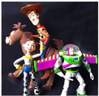 Wholesale Toy Story Buzz Woody - 4pcs set Anime Toy Story 3 Buzz Lightyear Woody Jessie PVC Action Figure Collectible Model Toy Kids Gifts 14.5-18cm KT443
