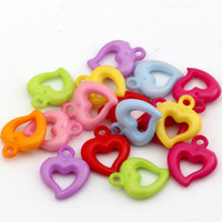 Wholesale plastic pendants buy cheap plastic pendants from chinese charms plastic pendants hot colorful acrylic plastic heart charm pendant x19mm diy jewelry mozeypictures Choice Image
