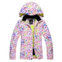 Wholesale Dots Snow jackets women Ski Jacket outdoor sports Snowboard Clothes costume Windproof Wartproof winter Warm skiing coat