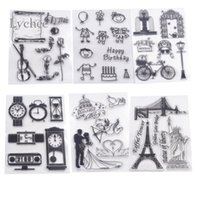 Wholesale scrapbooking card making supplies - Wholesale- Wedding Statue of Liberty Design Clear Transparent Rubber Stamp DIY Scrapbooking Card Making Christmas Decoration Supplies