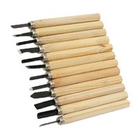 Wholesale Quality Wood Chisels - S5Q 12Pcs High Quality Durable Wood Carving Handle Chisel Woodworking Tool Set AAAGJY