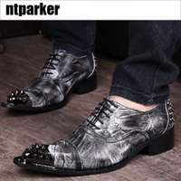 Ntparker YKorean Type Chaussures de mode Homme casual Chaussures en cuir augmenté Hauteur ascenseur Man's Dress Shoes Leather, EU38-46