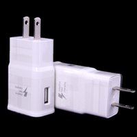 Wholesale 5V A Travel EU US Plug Wall USB Fast Charger Adapter For Smart phones In Black Or White Color