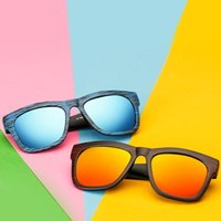 fashion personality unisex sunglasses big box wood resin round square face was thin color film sunglasses outdoor leisure beach driving yurt in bulk