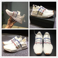 Wholesale Designer Flat Canvas Shoes - NEW 2017 Famous Designer French NMD R1 PK BZ0298 Basf Real Boost for Mens Women A Pedal XR1 Fashion Casual Running Shoes Size 36-46 With Box