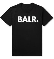 Wholesale Round S - Letter Print Shirt Men's T Shirts Balr street tide brand short-sleeved round neck loose short-sleeved cotton men's personality men's T-shirt