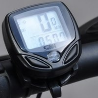 Wholesale Best Cycling Computers - Wireless LCD Cycle Computer Bicycle Meter Speedometer Odometer For Bike Best 100% Brand New