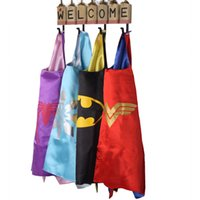 Wholesale Superhero Fabric Wholesale - Gold Hands Satin fabric Superhero Cape super hero spiderman superhero cape for kids Birthday Party Cosplay Custome Free shipping